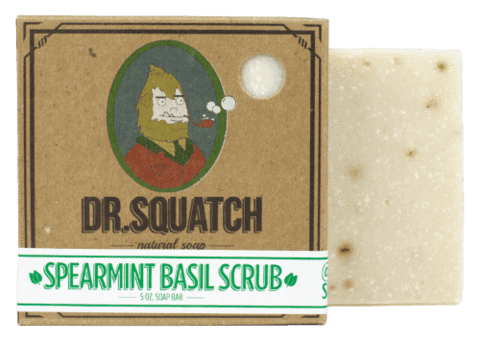 DR.SQUATCH Spearmint Basil Scrub Bar Soap
