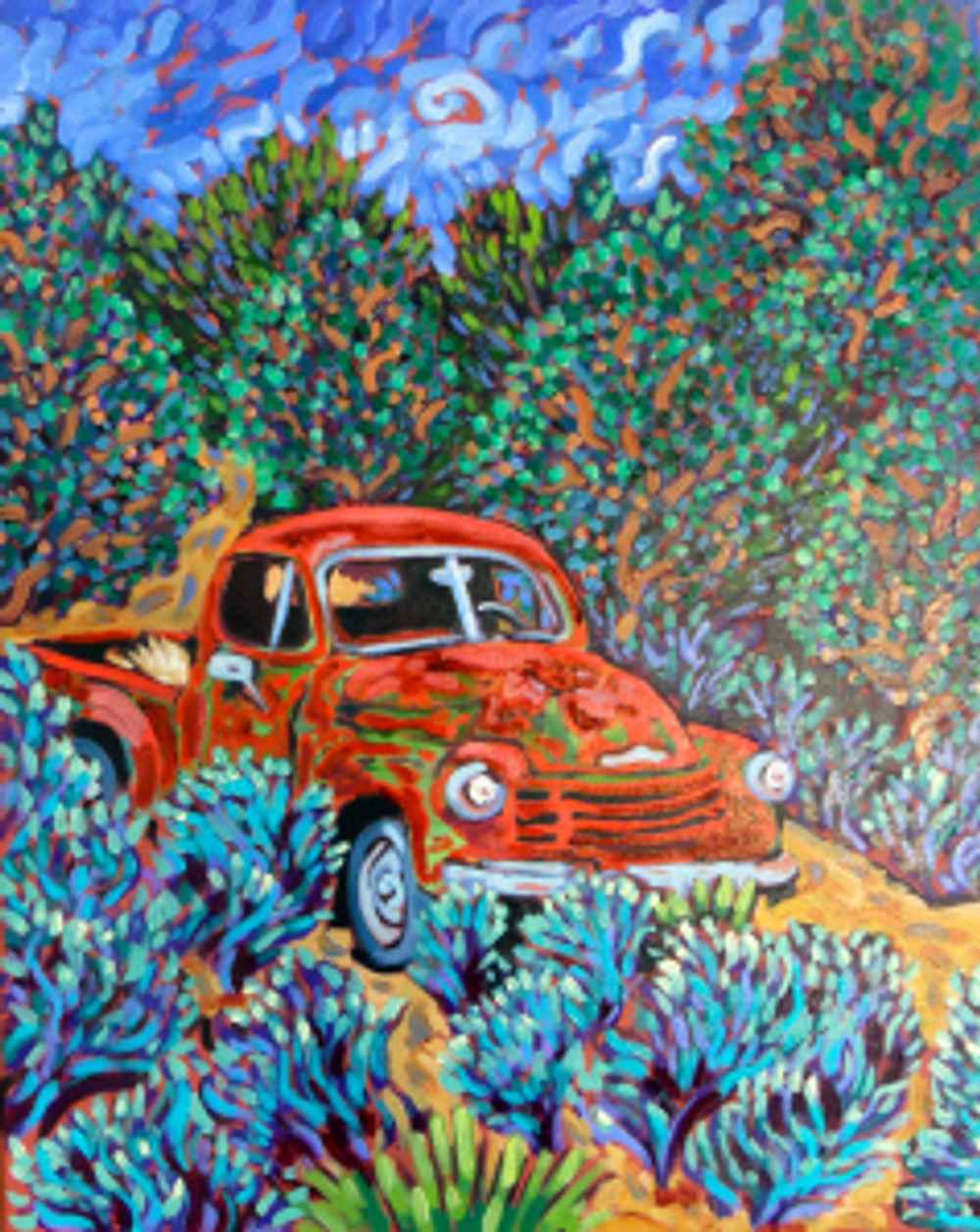 Little Red Truck -  final ©coyright Cathy Carey 2013