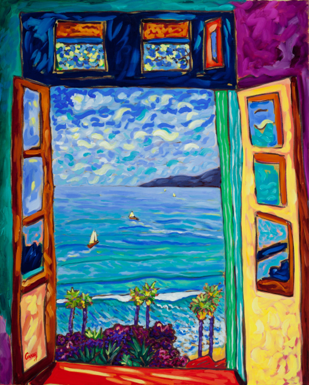 Serene Scene - Matisse windows series - by Cathy Carey ©2013