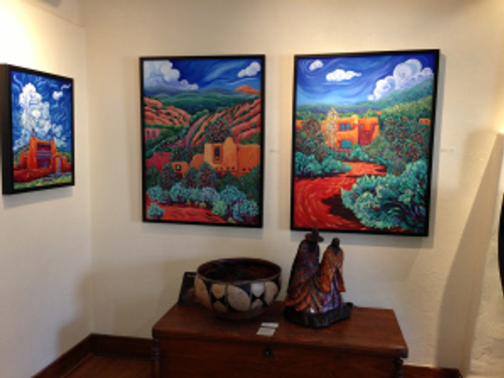 """Vivid New Mexico"" Show at Arroyo Gallery Canyon Road Santa Fe of Cathy Carey's work"