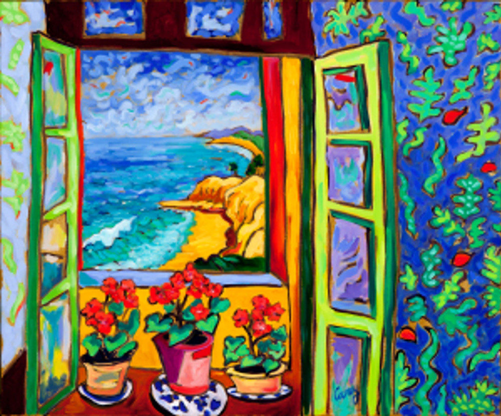 Kelp Bed Cove - Matisse Windows Series by Cathy Carey ©2014