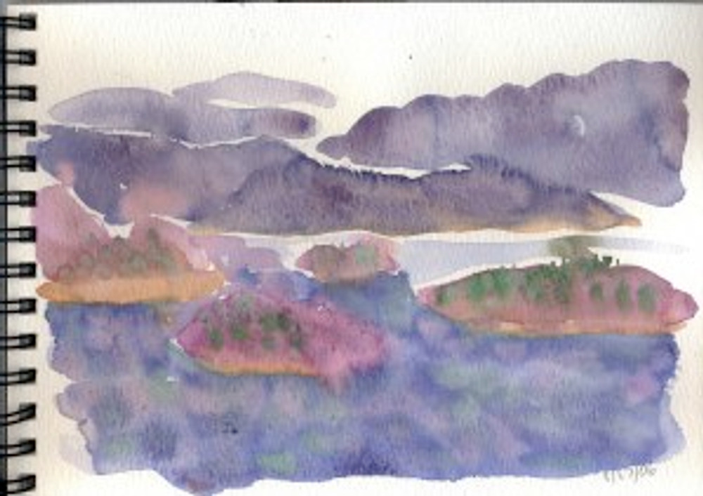 Alaska 2006  Sketchbook - Passing Islands