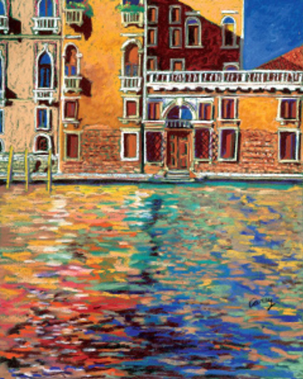 Bluest Sky in Venice by Cathy Carey 16 x 20 pastel