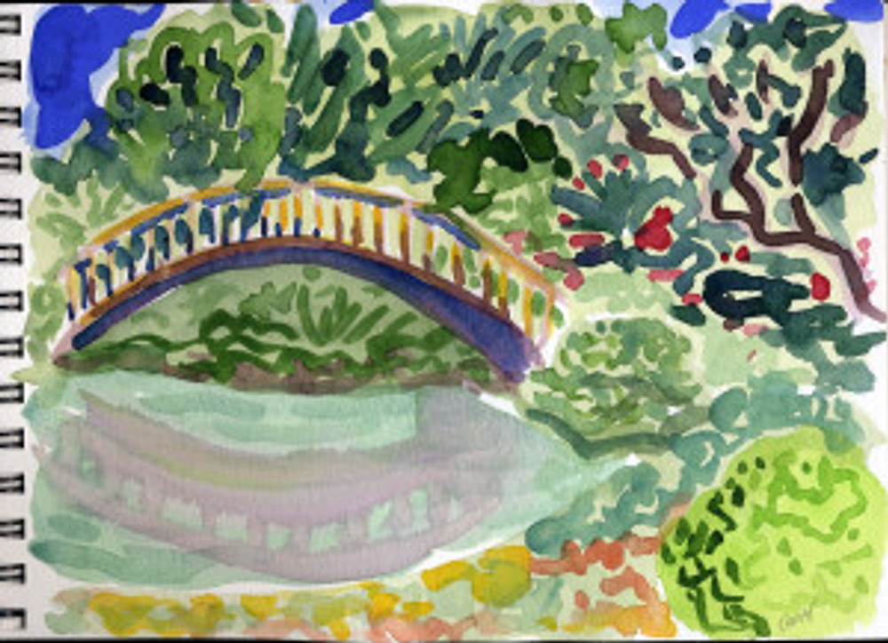 Huntington Garden 2009 - Japanese Bridge 2 P 20