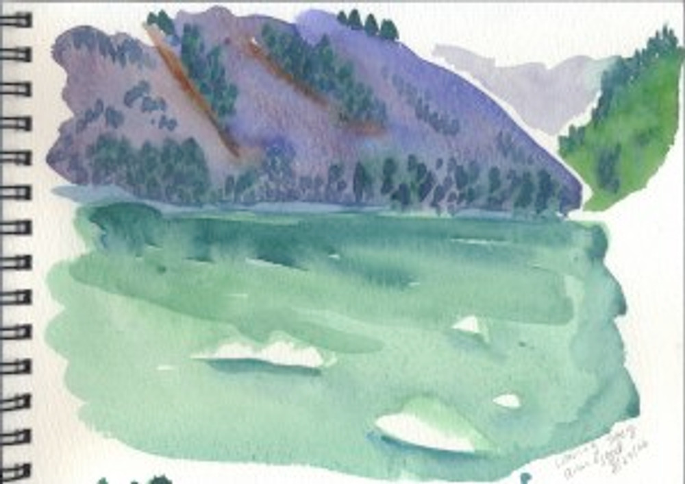 Alaska 2006 Sketchbook  - Leaving Tracy Arm Fjord