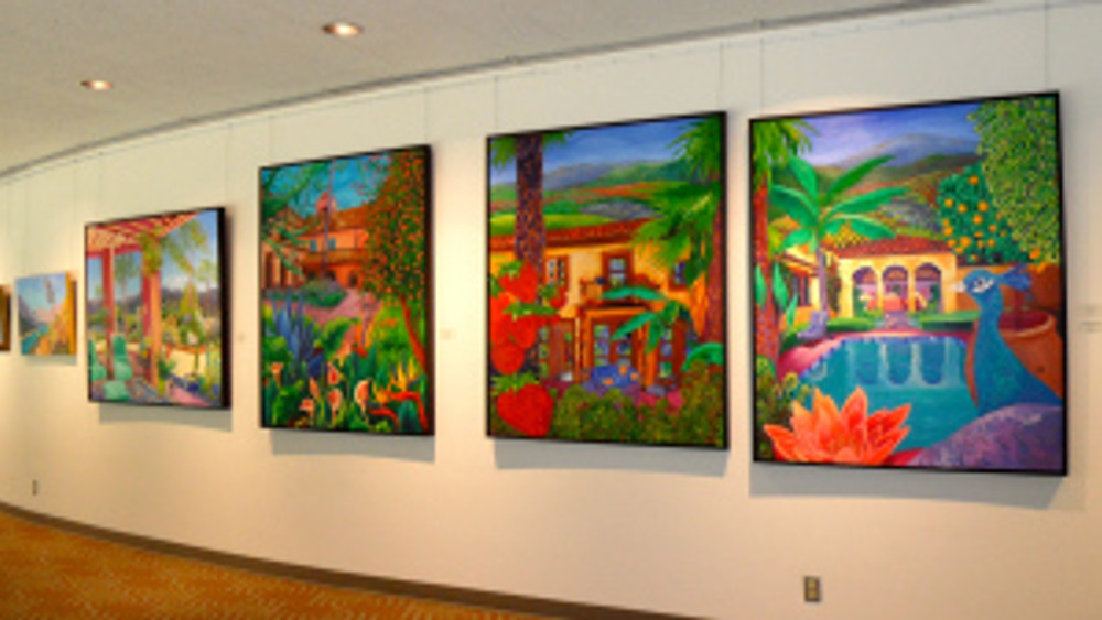 Cathy Carey paintings at Poway Center for Performing Arts
