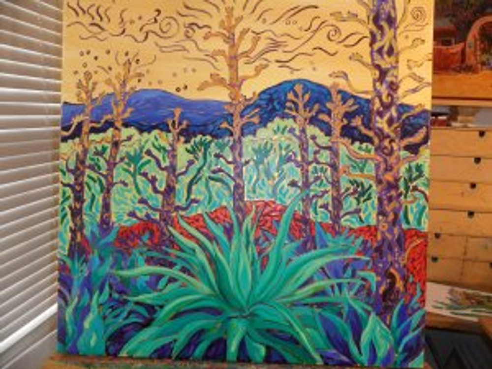 Cosmic Agave  by Cathy Carey ©2014