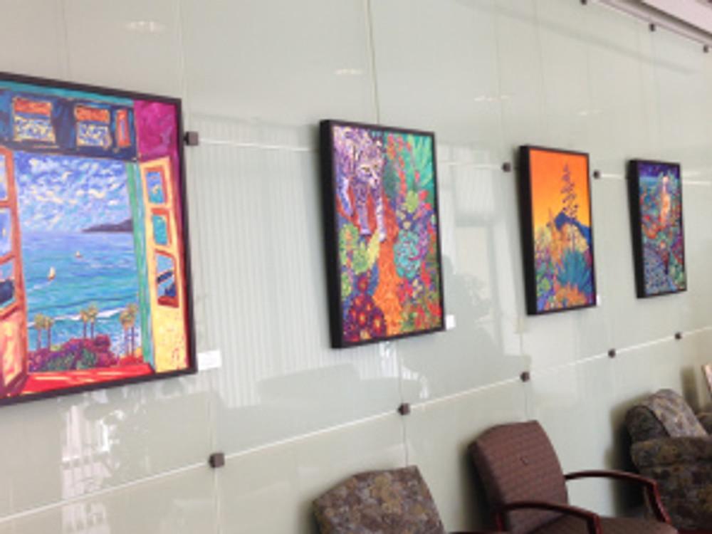 Vivid Views - paintings  by Cathy Carey at Encinitas City Hall show runs May 8 - July 2, 2015