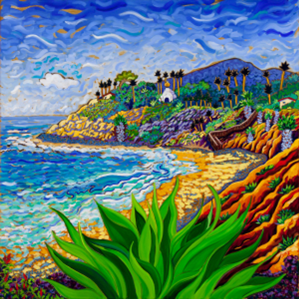 Swami's Agave 30 x 30 oil painting by Cathy Carey ©2015