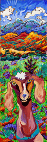 Mountain High Goat by Cathy Carey ©2015 1x 30 oil