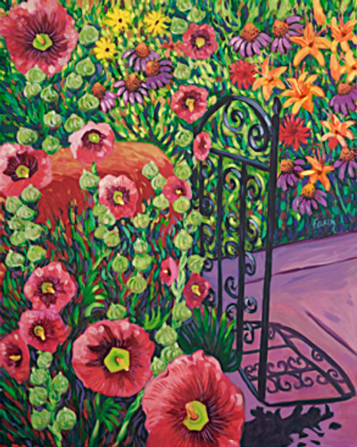 """Let the Sun Shine I - oil 24"""" x 30"""" ©Cathy Carey SOLD"""