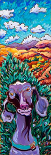 Adobe Goat by Cathy Carey ©2015 1x 30 oil