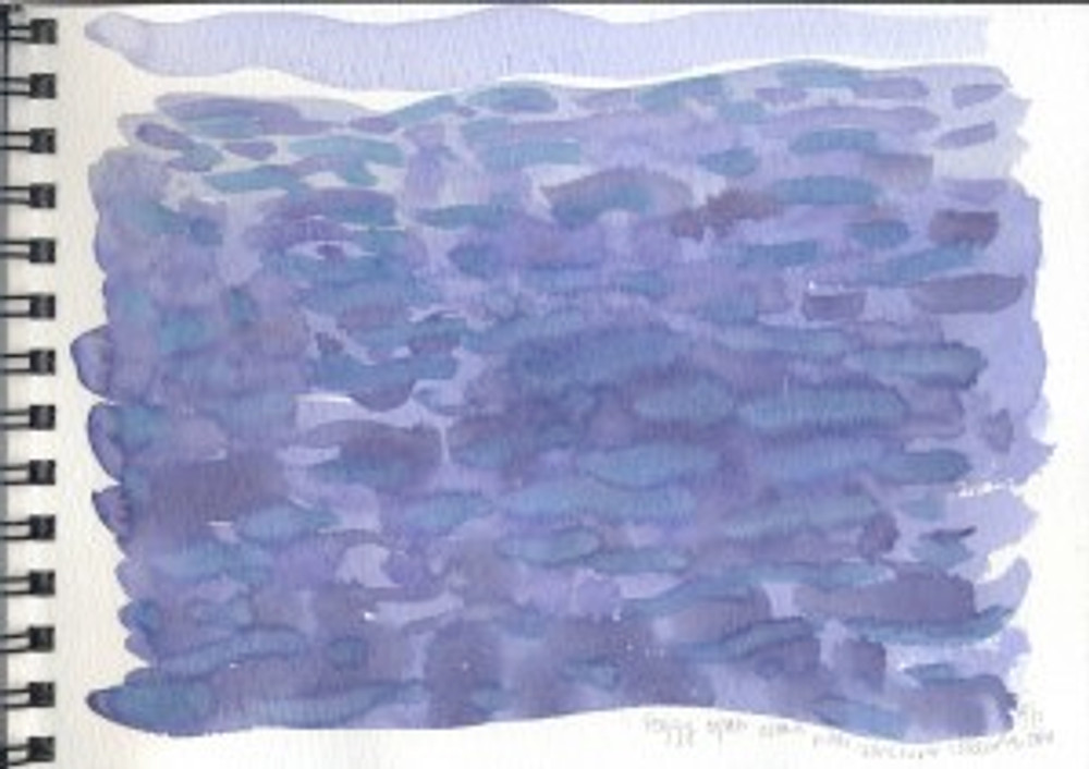 Alaska Sketchbook 2006 - Foggy Open Ocean Near Vancouver Island