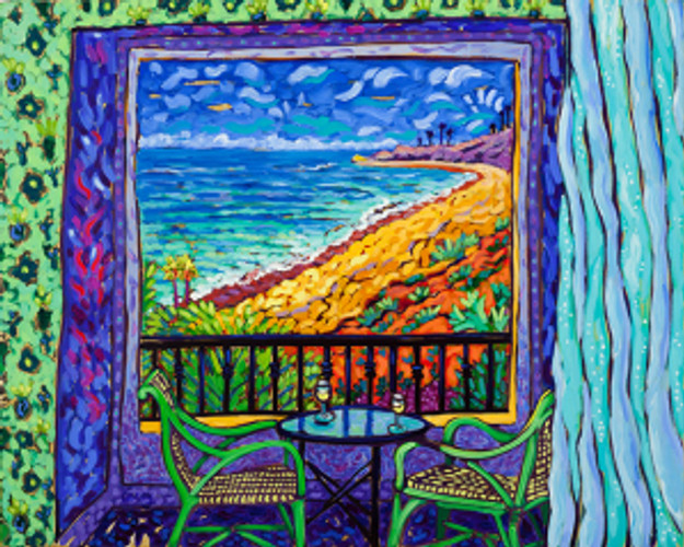Ocean View - Matisse Windows Series by Cathy Carey ©2014