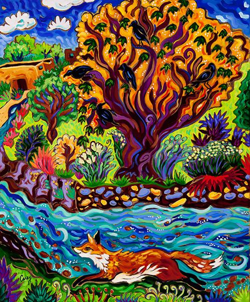 Running River running fox web