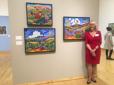 cathy at museum art show.JPG