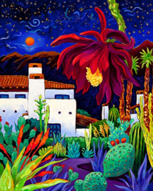 "Desert Night Music by Cathy Carey ©2014 oil 24"" x 30"""