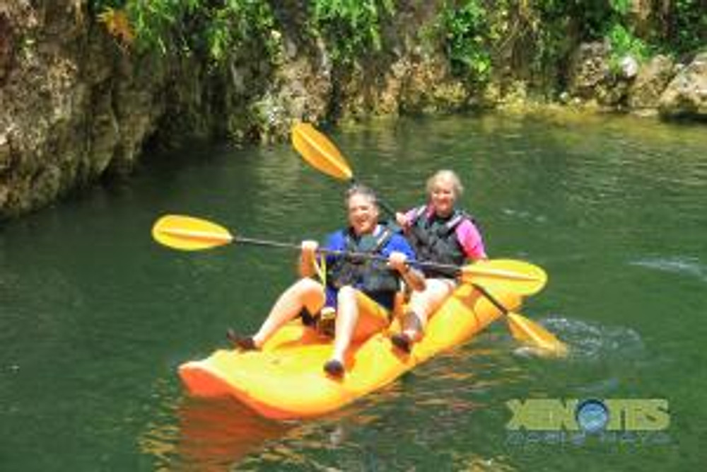 rafting on cenote