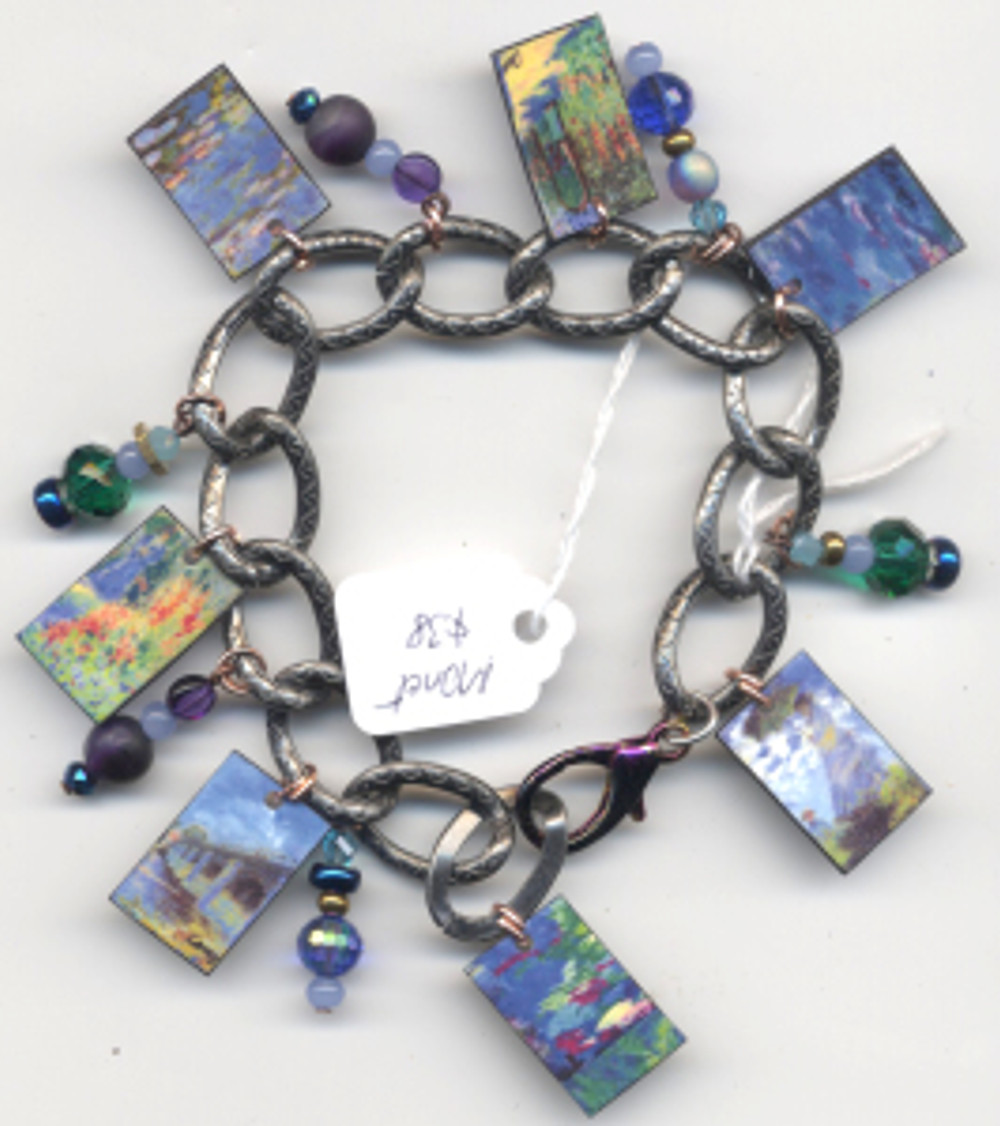 Monet Bracelet $38 - fired pieces from Monet paintings