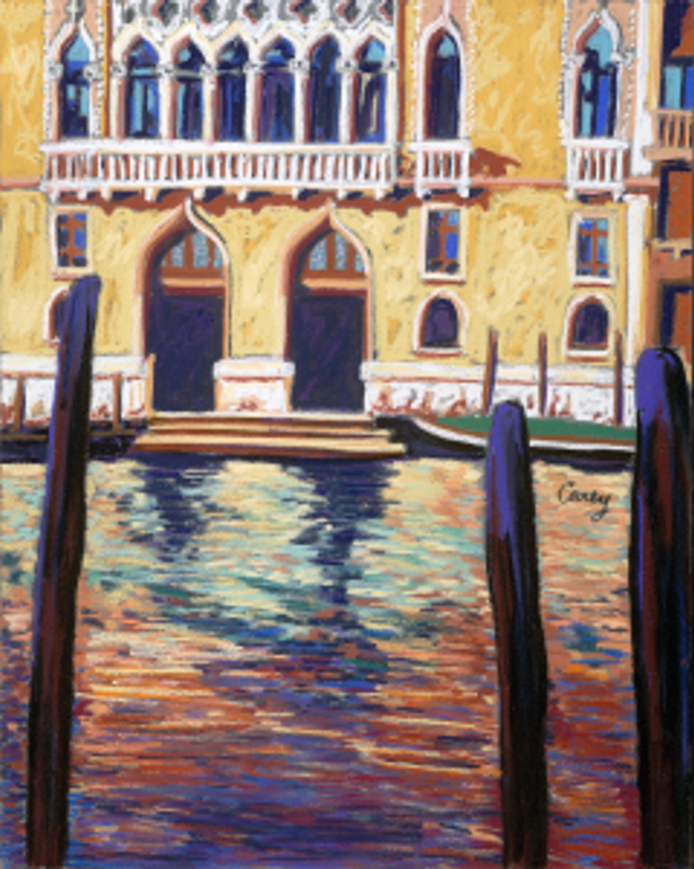 Venetian Palace by Cathy Carey 16 x 20 pastel