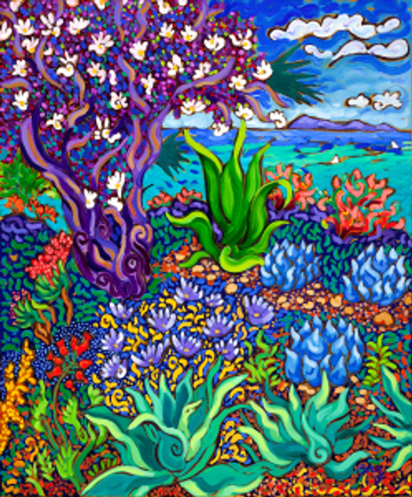Seaside Flowering Tree by Cathy Carey ©2014