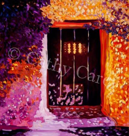 Adobe Door at Golden Hour