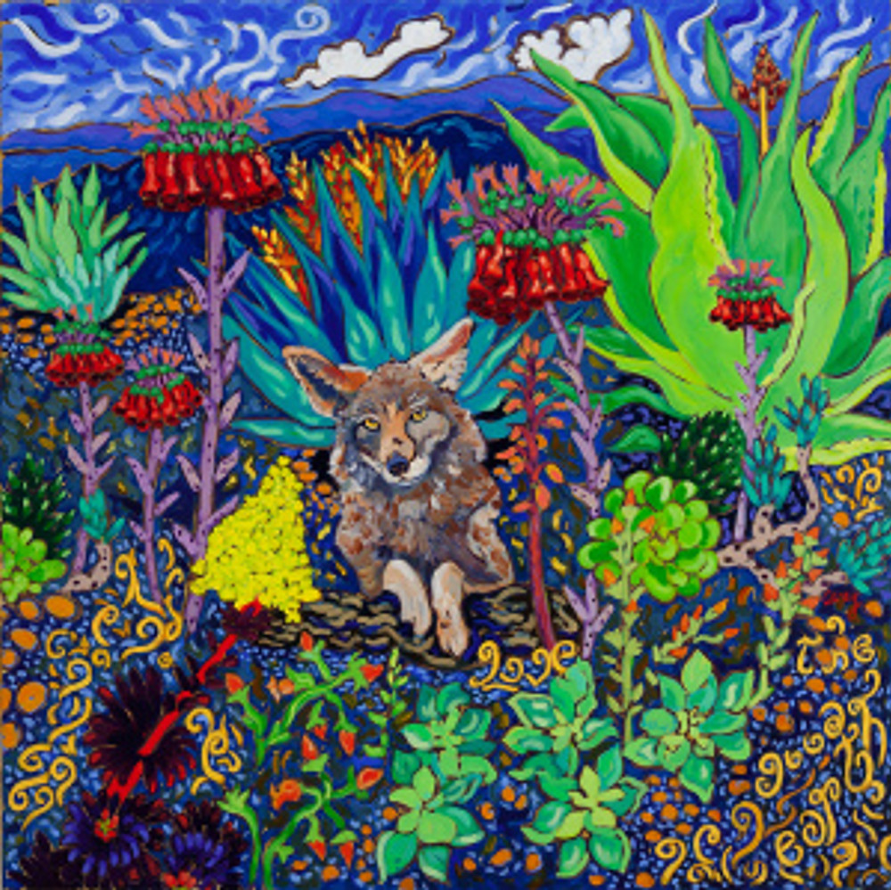 "Love the Good Earth oil 30"" x 30"" ©Cathy Carey 2014"