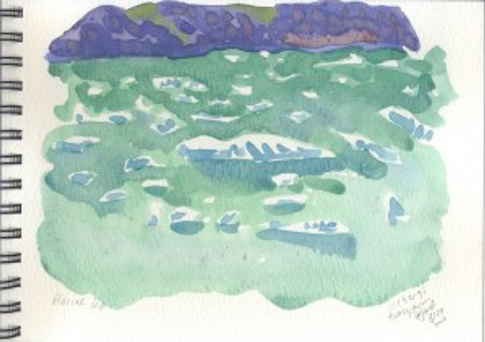 Alaska 2006 Sketchbook  - Icebergs Tracy Arm Fjord