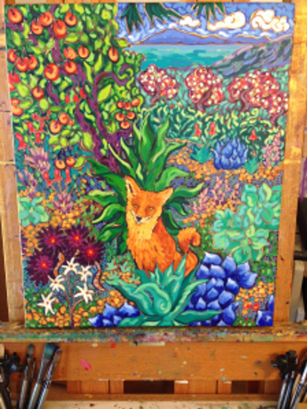 Fox in Foliage by Cathy Carey ©2014