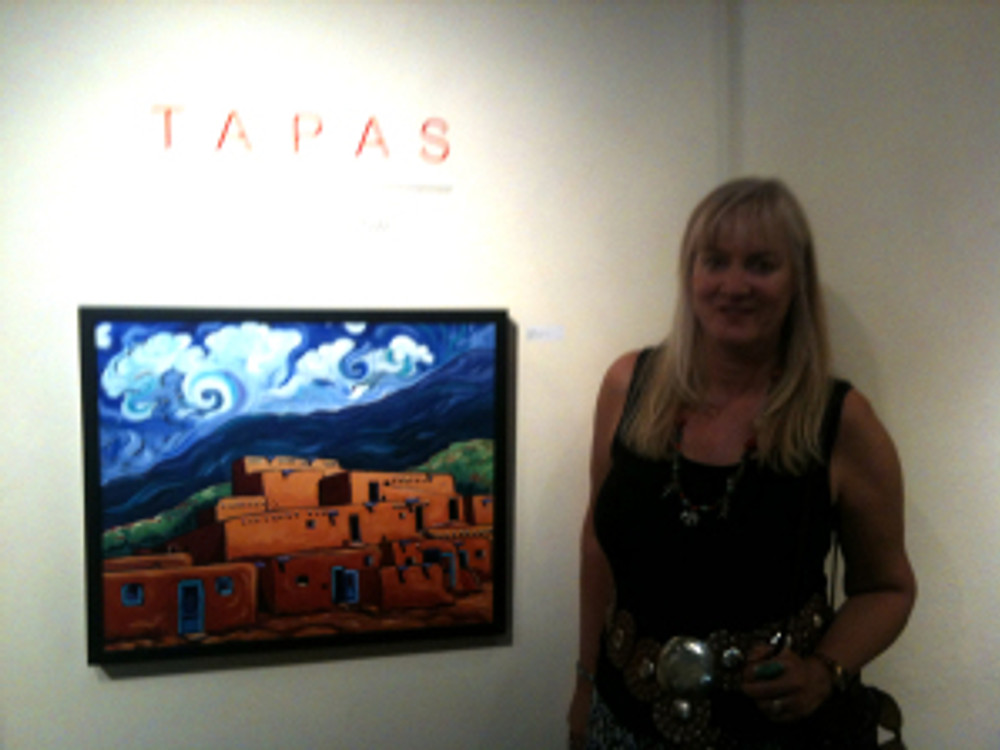 Cathy Carey at Tapas Group show at Arroyo Gallery Canyon Road  Santa Fe NM