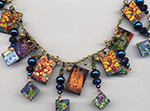 Klimpt Crystals necklace by Cathy Carey ©2014