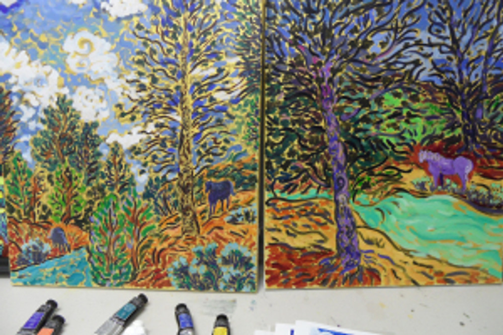 acrylic vs oil underpainting by Cathy Carey