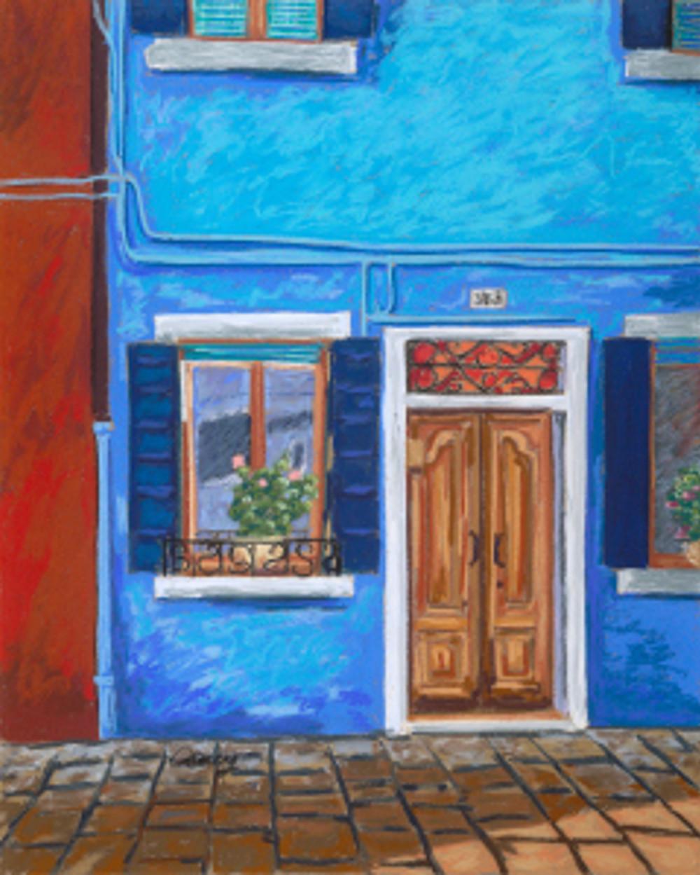 Blue Shadows by Cathy Carey 16 x 20 pastel