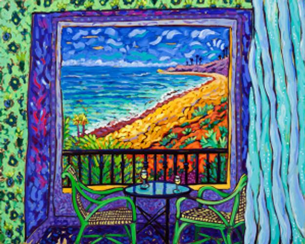 Ocean View - Matisse Windows Series by Cathy Carey ©2014