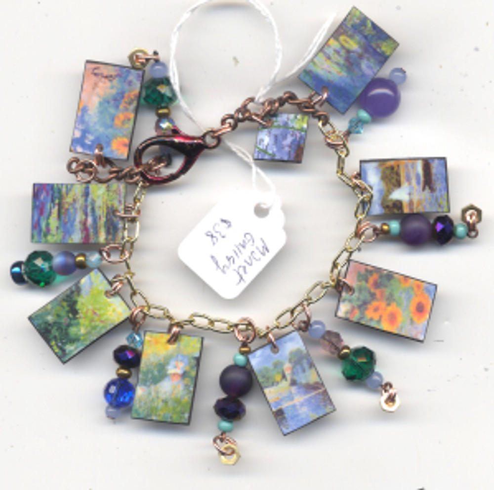 Monet Gallery Bracelet $38 - fired pieces from Monet paintings