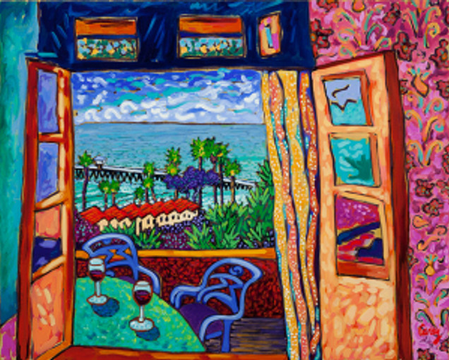 Beach Cottage View by Cathy Carey