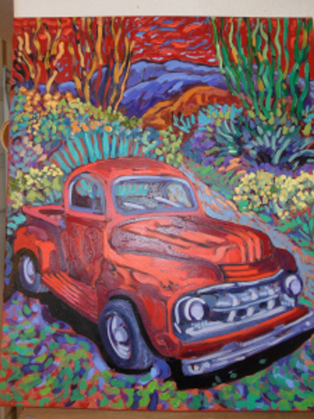 Red Truck Luck by Cathy Carey ©2014