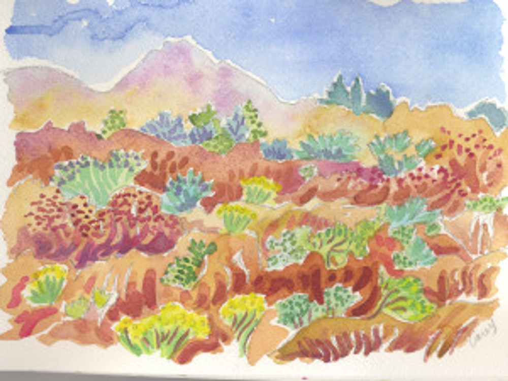 Watercolors by Cathy Carey 2015©