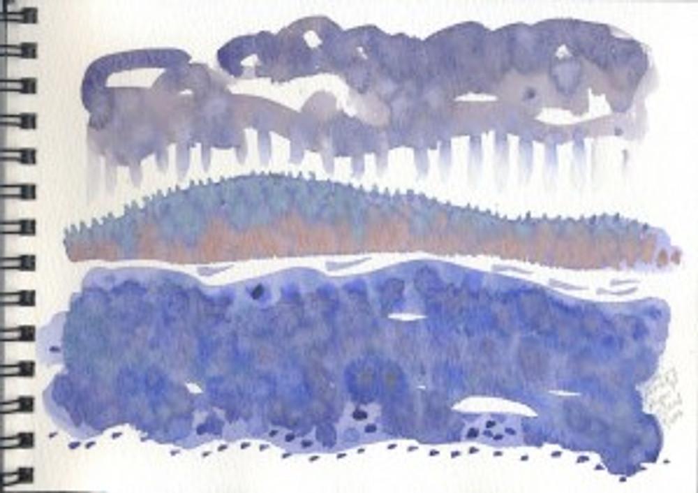 Alaska Sketchbook 2006 - Rainy Prince Rupert Island