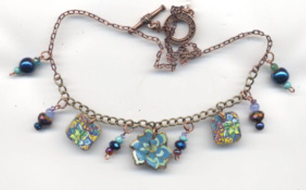 PN54 Succulent Sensation $68 - necklace by Cathy Carey ©2015