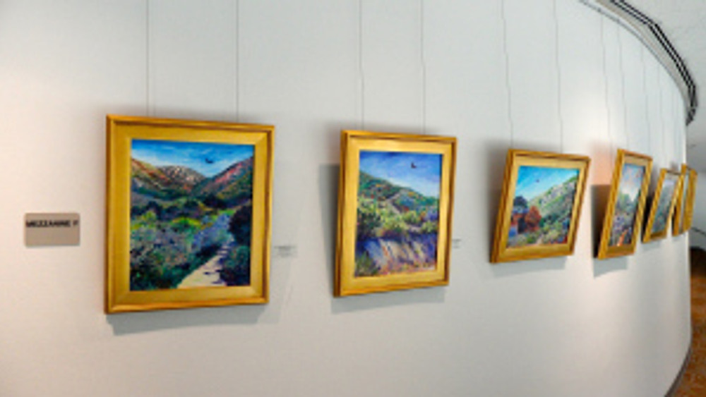 Cathy Carey paintings at the Poway Performing Arts Center