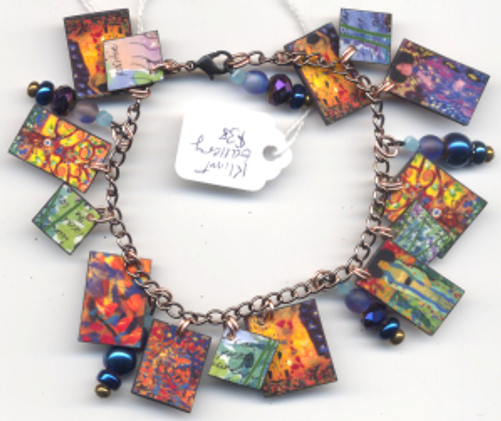 Klimt Gallery Bracelet $38 - fired pieces from Klimt paintings