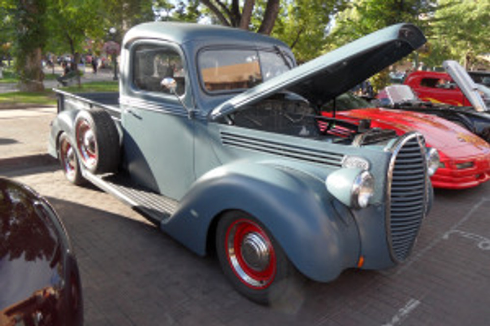 Car show at the Plaza