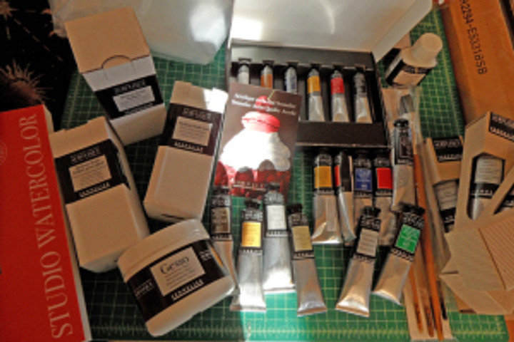 Sennelier Artist acrylics paints and papers