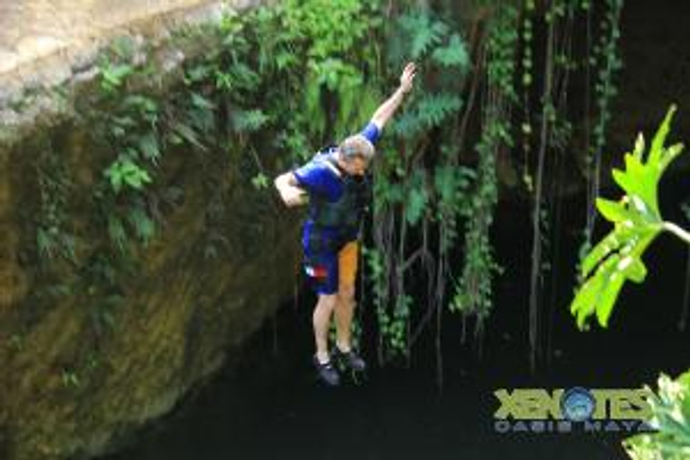 Jumping into Cenote