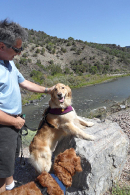 Brian Yogi and Kira at Rio Grande overlook