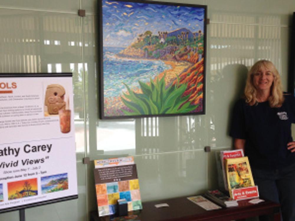 Vivid Views - paintings  by Cathy Carey at Encinitas City Hall
