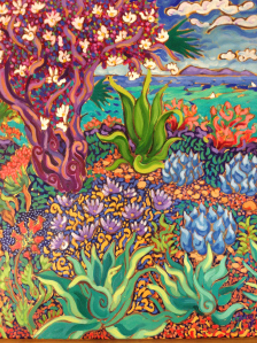 Seaside Flowers Tree by Cathy Carey ©2014