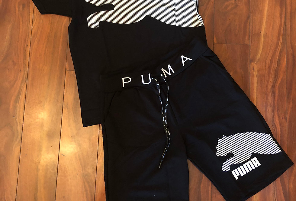 BOYS TWO PIECE BLACK PUMA SET