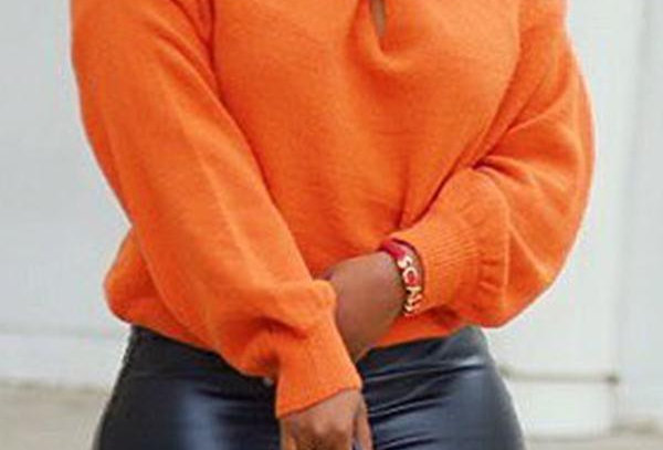 SOLID ASYMMETRIC SWEATER